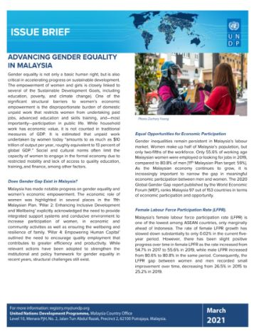 Issue Brief: Advancing Gender Equality in Malaysia