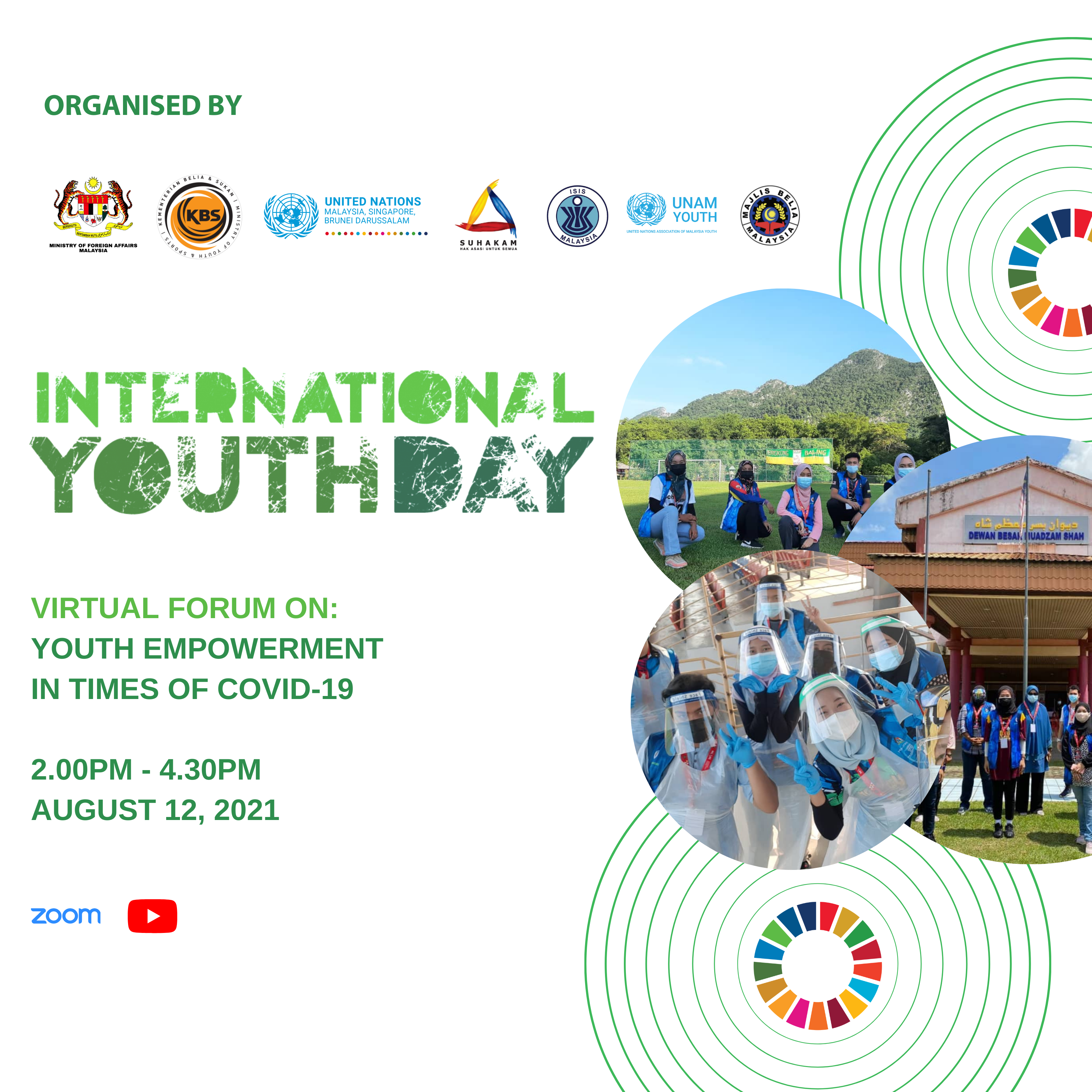 International Youth Day Virtual Forum - Youth Empowerment in times of COVID-19