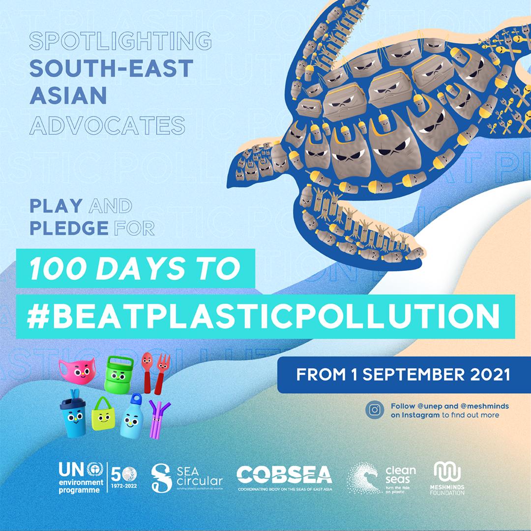 Join 100 days to #BeatPlasticPollution
